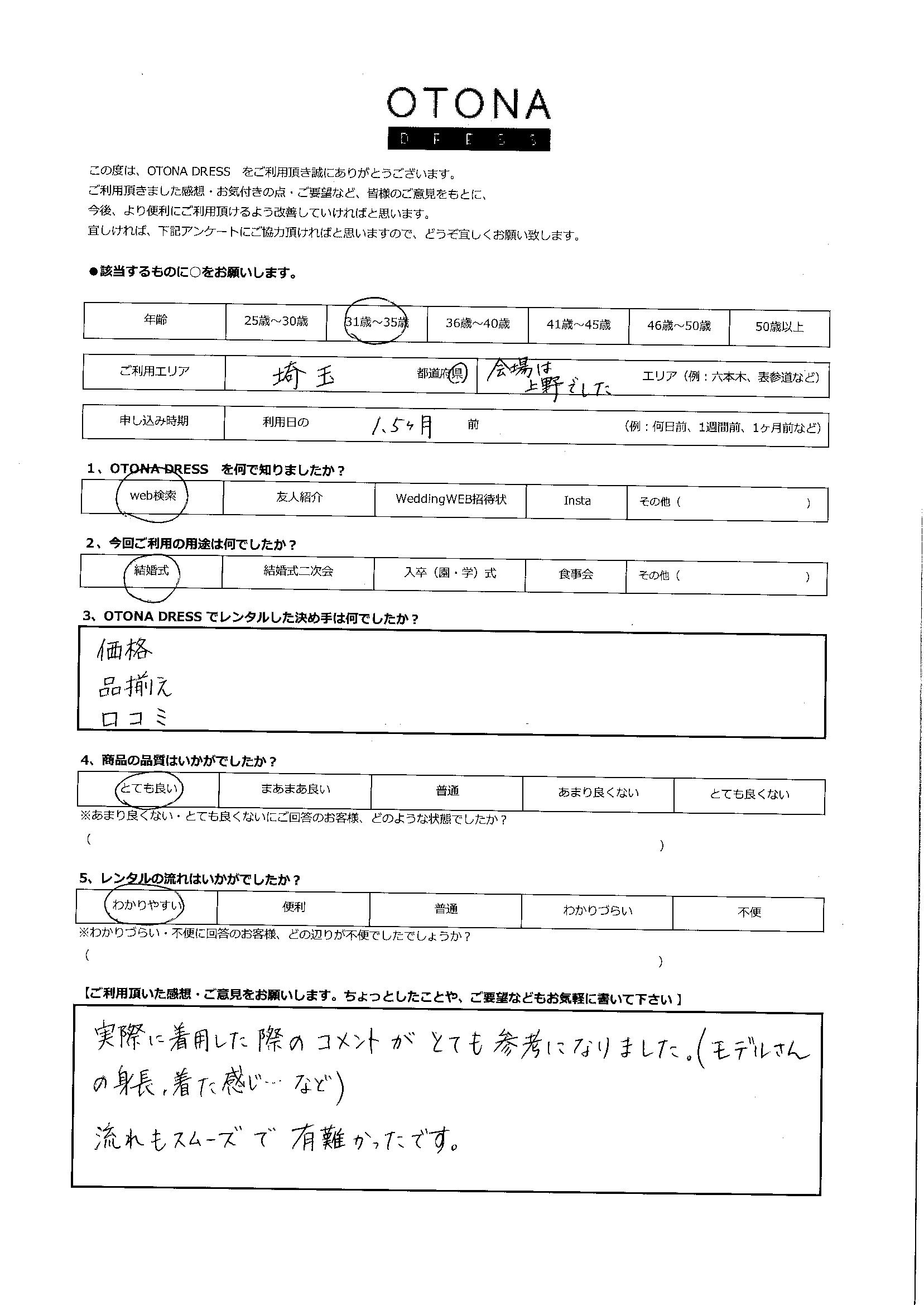 4/24結婚式ご利用 東京・上野エリア