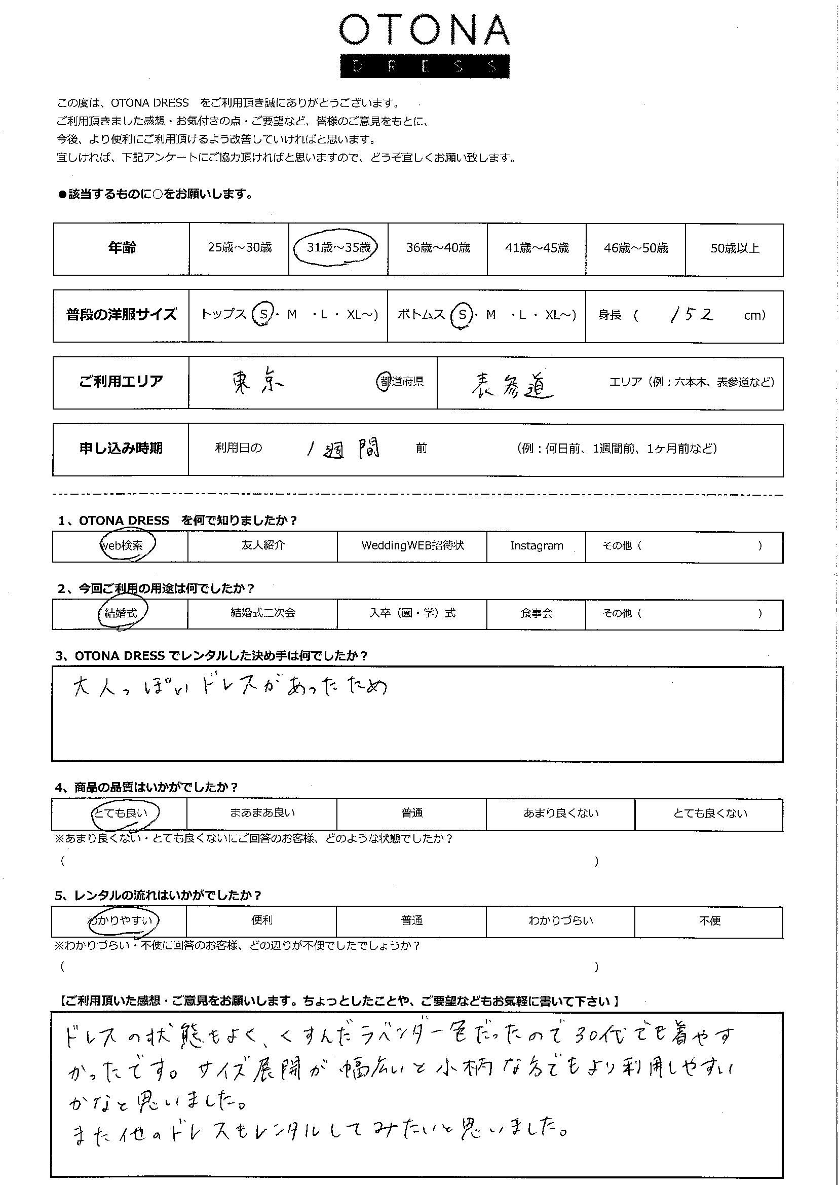 5/23結婚式ご利用 東京・表参道エリア