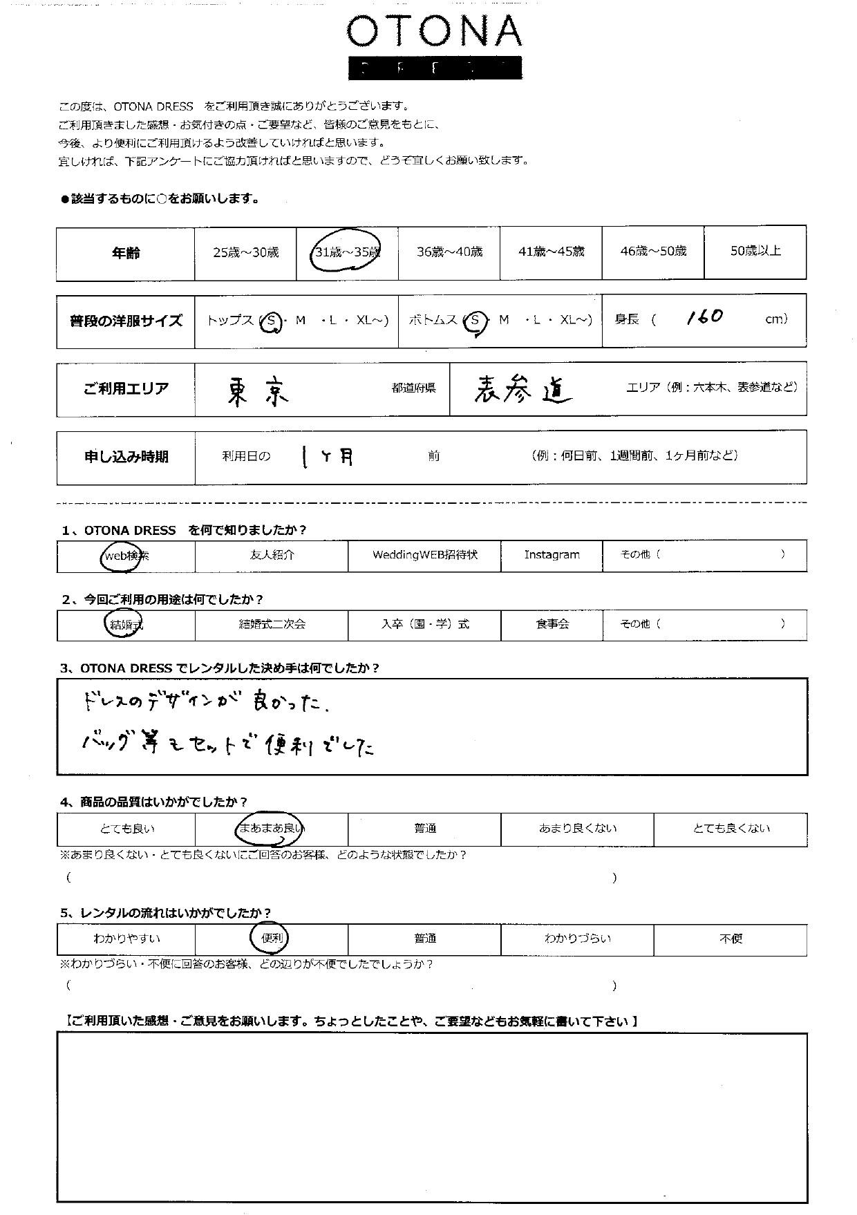 5/15結婚式ご利用 東京・表参道エリア