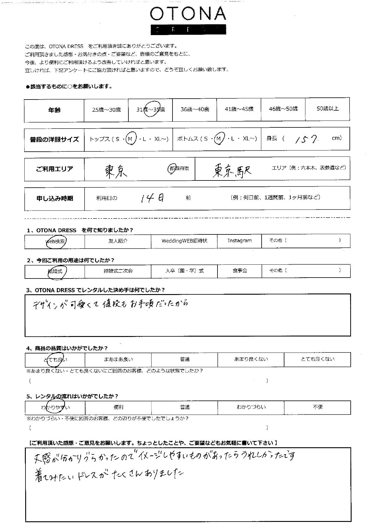 5/16結婚式ご利用 東京・東京駅エリア