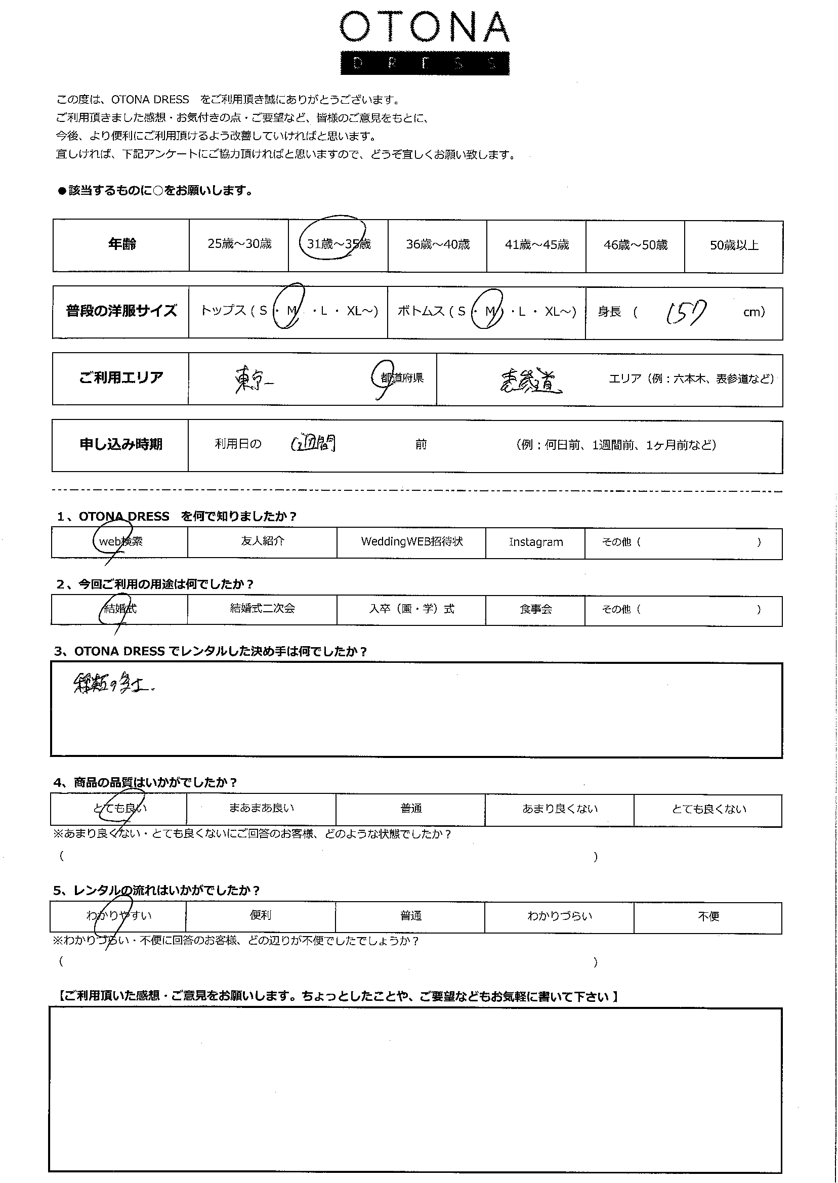 6/6結婚式ご利用 東京・表参道エリア